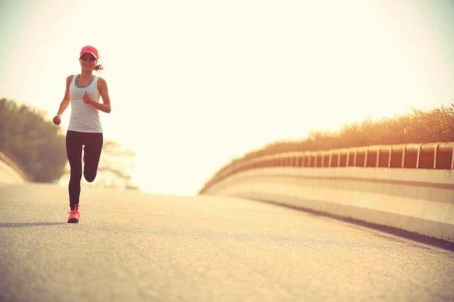 Woman Running for Good Health